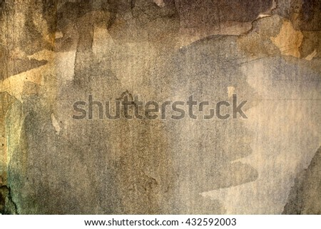 Abstract artistic brown watercolor background - stock photo