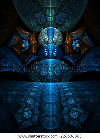 Abstract artistic conceptual fantasy digital illustration - stock photo