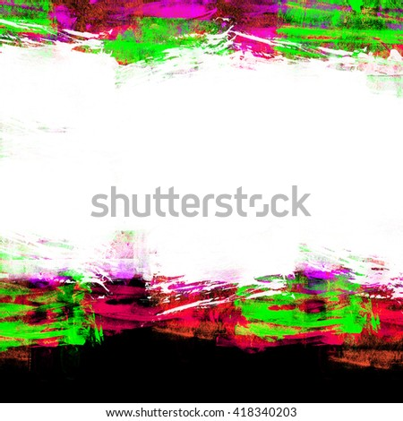 Abstract artistic messy watercolor border background. - stock photo