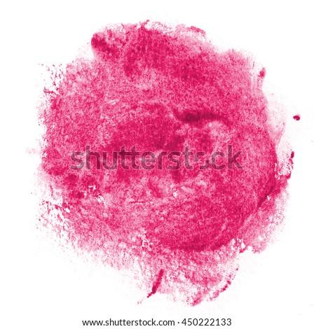 Abstract artistic watercolor splash - stock photo