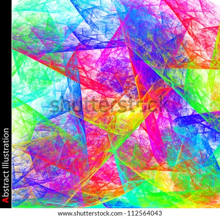 Abstract background. Art poster. - stock photo