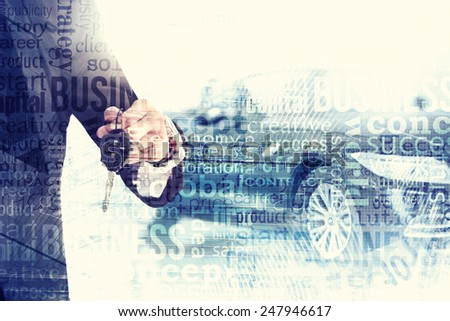 Abstract background. Auto dealership concept - stock photo