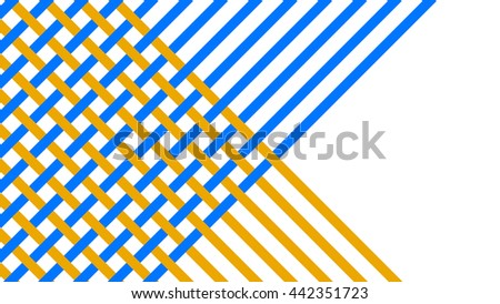 Abstract background, blue and golden tapes, weaving. Rasterized Copy. - stock photo