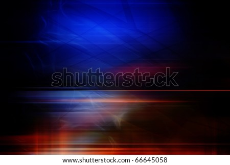 Abstract background, blue and red color - stock photo
