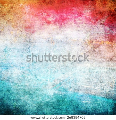 Abstract background, blue and red color texture - stock photo