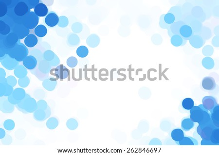 abstract background blue bokeh circles. Beautiful background with particles. - stock photo