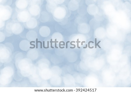 abstract background blue bokeh circles for Christmas background - stock photo
