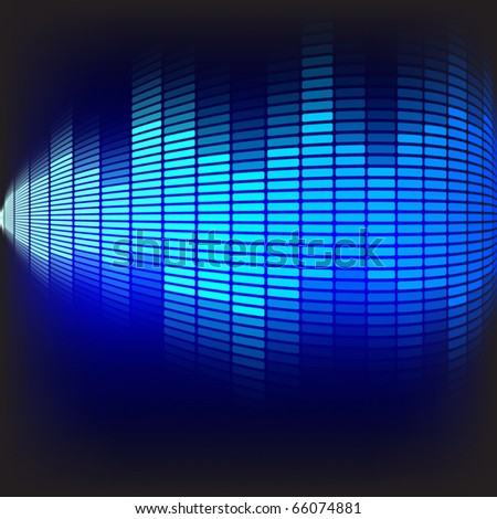 Abstract Background - Blue Equalizer - stock photo