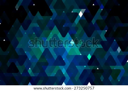 abstract background. blue mosaic - stock photo