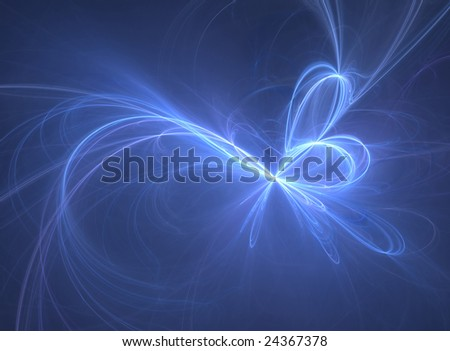 Abstract background. blue palette. raster fractal graphics. - stock photo