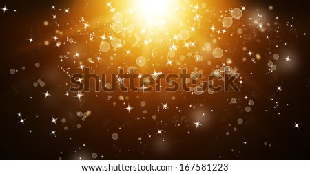 Abstract background - bright lights in darkness  - stock photo