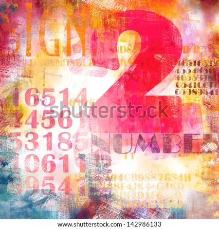 Abstract background collage with number composition - stock photo