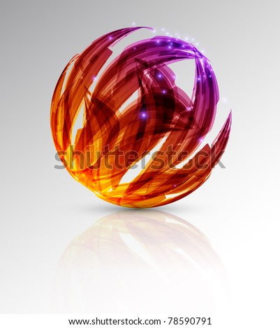 abstract background. color sphere. illustration - stock photo