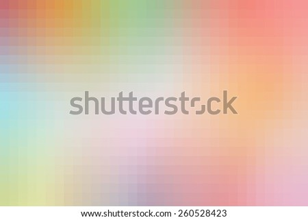 Abstract Background colorful pixels, digital square pattern - stock photo