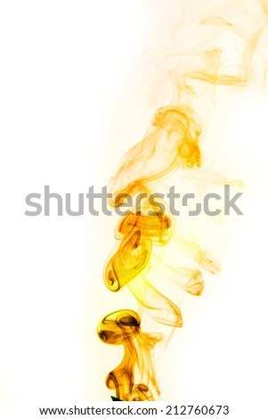 abstract background, colorful smoke of Joss stick - stock photo