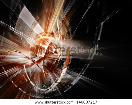 Abstract background composition in black and red colors - stock photo