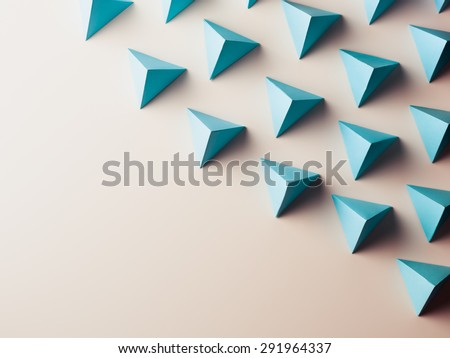 abstract background consisting of paper geometric shapes. copy space available - stock photo