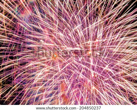 Abstract Background Created From Fireworks - stock photo