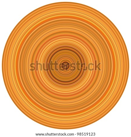 abstract background 3d render concentric pipes in multiple orange - stock photo
