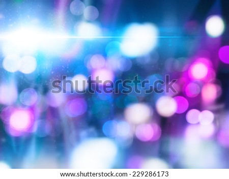 Abstract background design with defocused night city illumination - stock photo