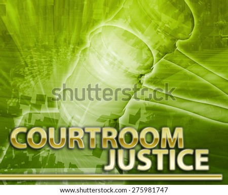 Abstract background digital collage concept illustration courtroom legal justice - stock photo