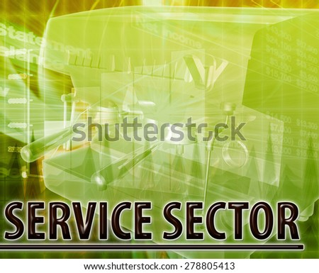 Abstract background digital collage concept illustration service sector - stock photo