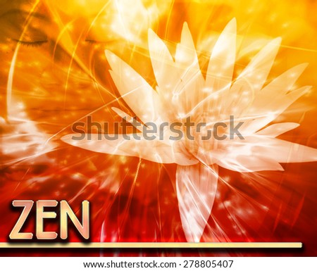 Abstract background digital collage concept illustration zen mediation - stock photo
