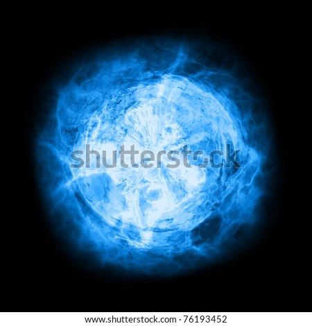 abstract background, electrical flash on a dark blue background - stock photo