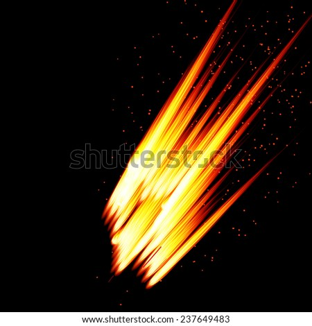 Abstract  background-fire shape. Raster version. - stock photo