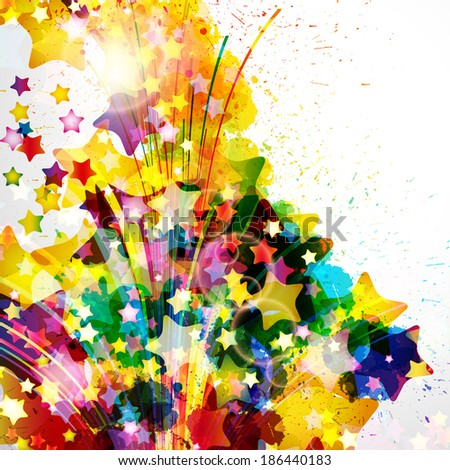 Abstract background forming by watercolor paint splashes. - stock photo