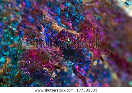Abstract background from a metal mineral. Macro.  - stock photo