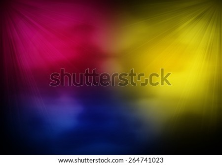 Abstract background from color stains and rays of light - stock photo