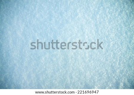 abstract background from snow shiny in sun - stock photo