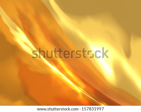 abstract background glowing gold with fire effect - stock photo