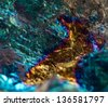 Abstract background, gold, bronze, copper, iron. Macro. Extreme closeup - stock photo