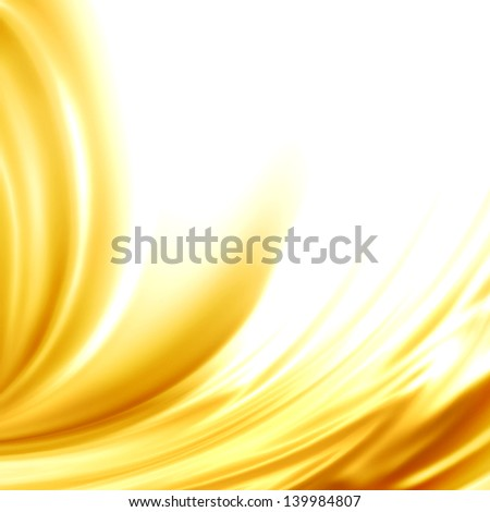 Abstract background golden satin silk frame for trendy luxury wedding invitation card menu design - stock photo