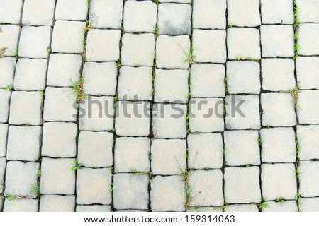 Abstract background - gray paving slabs in the form of squares - stock photo