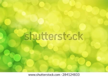 abstract background green bokeh circles - stock photo