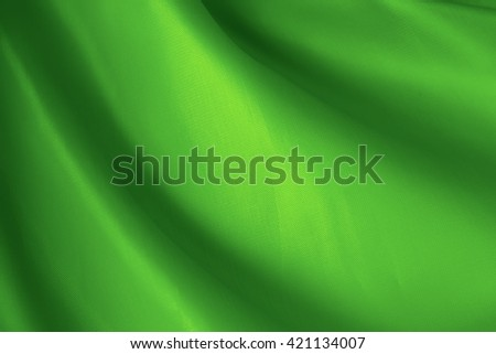 abstract background green cloth with folds - stock photo