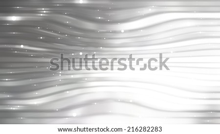 Abstract background. grey  background with waves and stars - stock photo