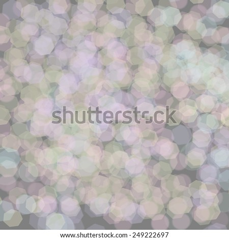 Abstract Background - Grey Glowing Background With Sparkling Circles / Grey Glowing Background - stock photo