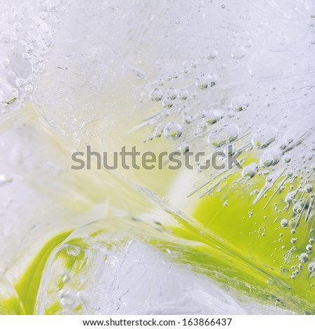 Abstract background: ice and drops - stock photo