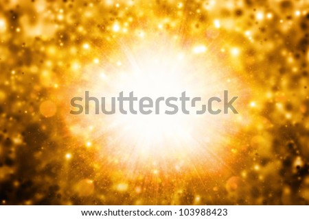 Abstract background - illustration of huge awful catastrophe, explosion - stock photo