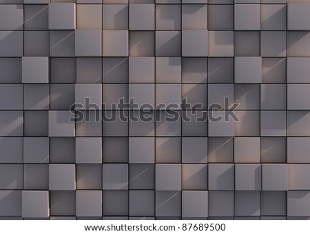 Abstract background image of grey cubes - stock photo