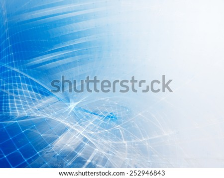 Abstract background in blue and white colors - stock photo