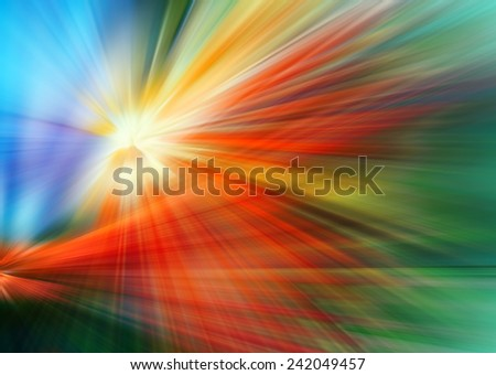 Abstract background in blue, red, green, yellow and orange colors. - stock photo