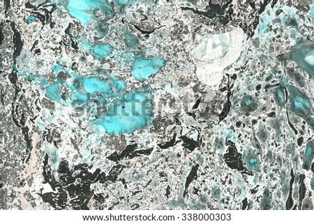 Abstract background, like stone. Hand-painted art background. Grunge and stone texture (made in marbling technique). Nice  background for design projects. Marble with blue  - stock photo