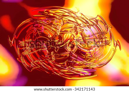 abstract background line, color graffiti  and glass effect - stock photo