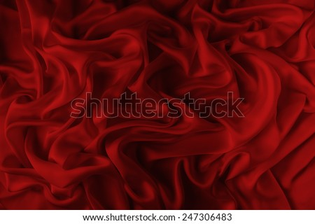 abstract background luxury cloth or liquid wave or wavy folds of grunge red  silk texture satin velvet material or luxurious - stock photo