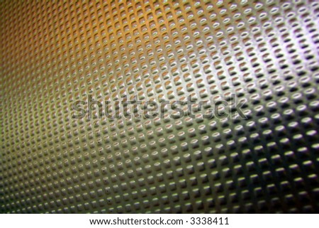 Abstract background made from metallic door with orange tones - See note for reviewer please - stock photo